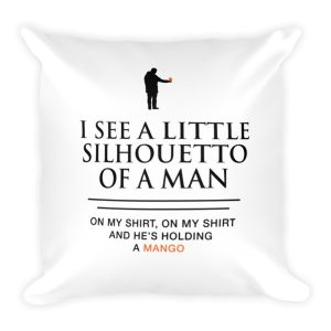 Silhouetto of a Man Pillow