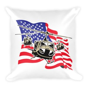 American Flag Helicopters Pillow