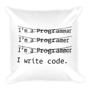 Funny Programmer Pillow