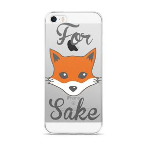 Funny For Fox Sake iPhone case