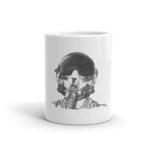 Fighter Pilot Helmet Mug